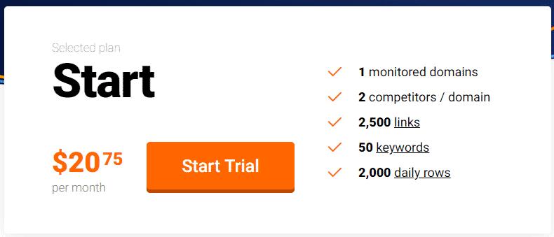 Monitor Backlinks - Pricing
