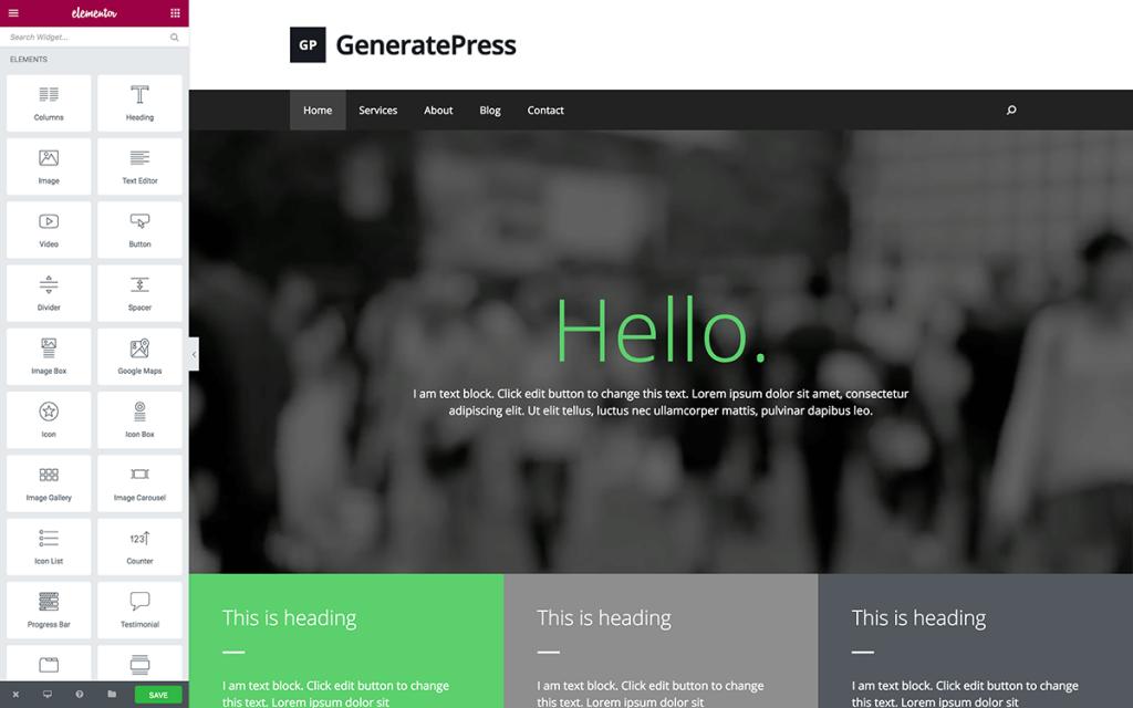 GeneratePress- Ease of use