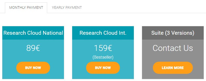Searchmetrics - Pricing