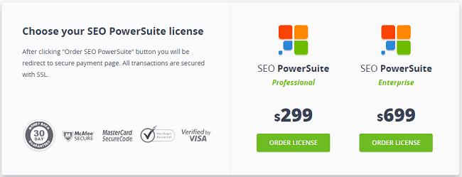 SEO Powersuite - Pricing