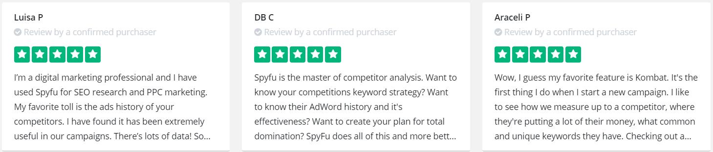 Spyfu - User Support