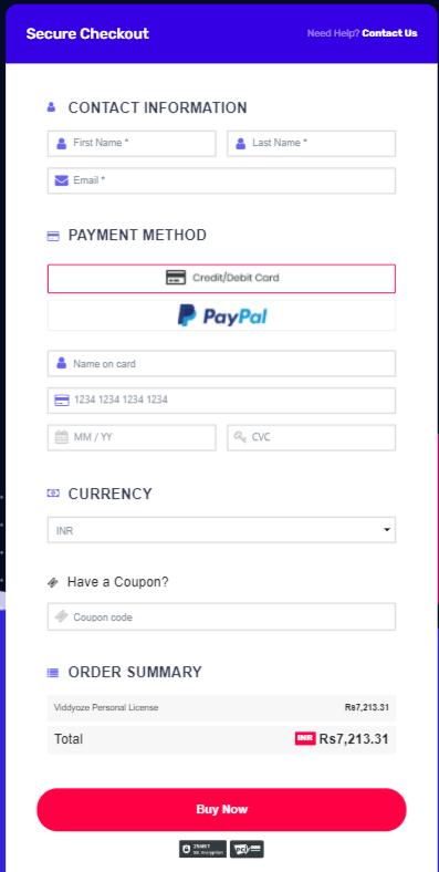 Viddyoze Payment
